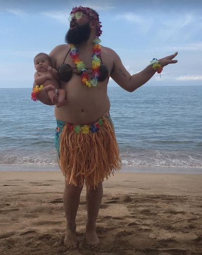 Nothing says summer holiday like a grass skirt.