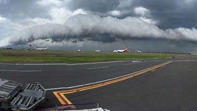 Mohamad Kantari took this shot from the Sydney Airport. (Supplied)