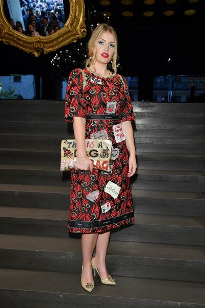 Kitty Spencer at the Dolce & Gabbana show during Milan Fashion Week Spring/Summer in Milan, Italy, September, 2017