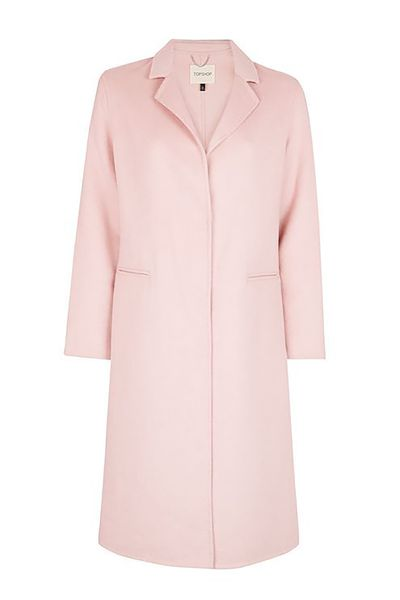 "<p><a href=""https://au.topshop.com/dusty-pink-butted-seam-coat.html"" target=""_blank"">Topshop Dusty Pink Butted Seam Coat, $169.95.</a></p> <p>Pop it over anything and nobody will ever know the difference. </p>"