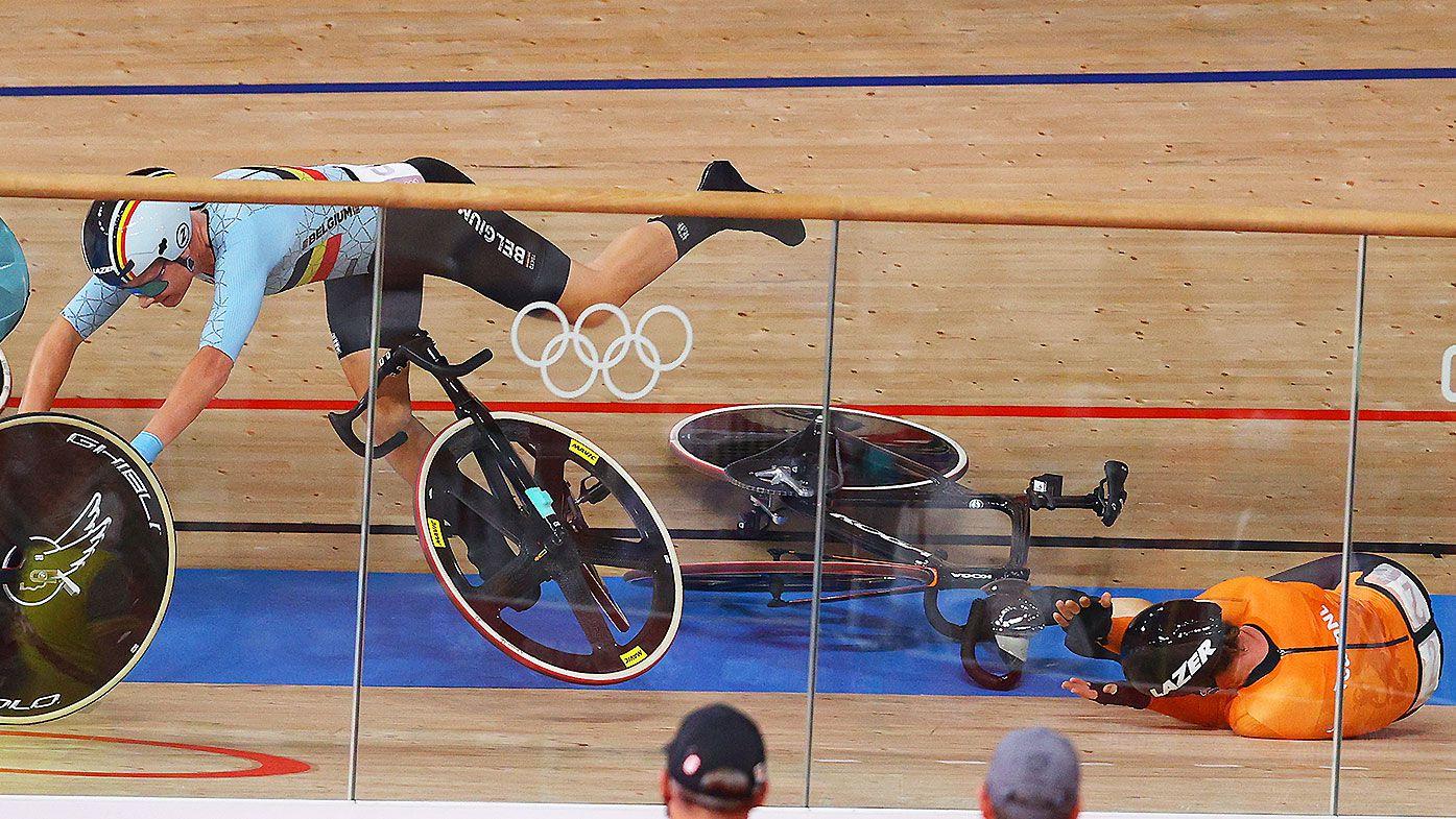 Tokyo Olympics cycling crash
