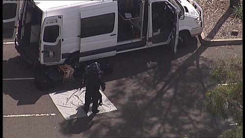 A man and a woman are assisting police with inquiries. (9NEWS)