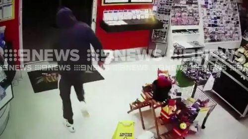 The attempted robber then fled the scene in a car and police investigations are now ongoing. Picture: Supplied.