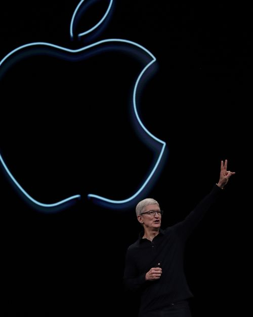 Apple CEO Tim Cook says goodbye at the end of the keynote address at the Apple World Wide Developers Conference at the McEnery Convention Center in San Jose, California, USA, 3 June 2019.