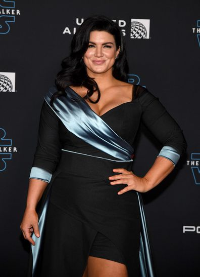 """Actress Gina Carano attends the premiere of Disney's """"Star Wars: The Rise of Skywalker"""" on December 16, 2019 in Hollywood, California."""
