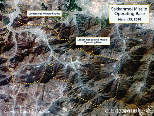 Commercial satellite images have identified more than a dozen undeclared North Korean missile bases, in a sign the country is continuing its ballistic missile program.