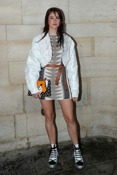 Shailene Woodley attends the Louis Vuitton show as part of the Paris Fashion Week