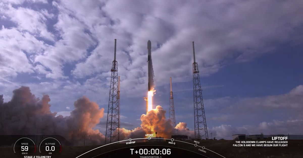 SpaceX launches 143 satellites into space in record-breaking mission – 9News