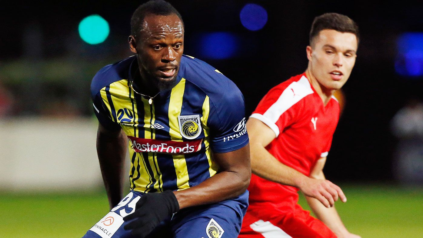 Usain Bolt 'nervous' in Central Coast Mariners debut