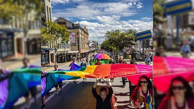 The Brisbane Pride March took place in Fortitude Valley this morning. (Instagram / @glennhuntphoto )
