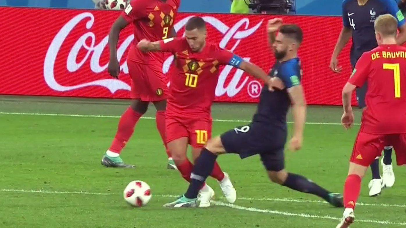 World Cup 2018: Eden Hazard has free-kick waved away as controversial call ends Belgium's campaign