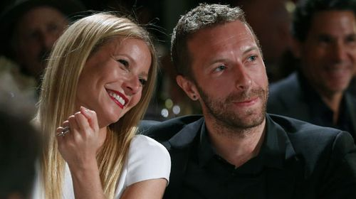 Gwyneth Paltrow and Chris Martin in January this year. (AAP)