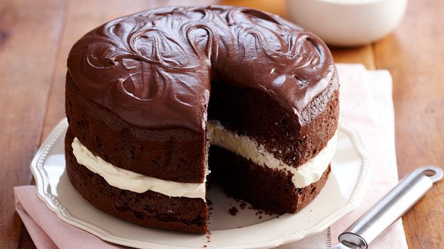 Dark secret chocolate cake