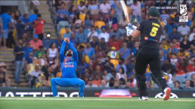 Indian paceman Jasprit Bumrah applauds Virat Kohli's dropped catch off his bowling
