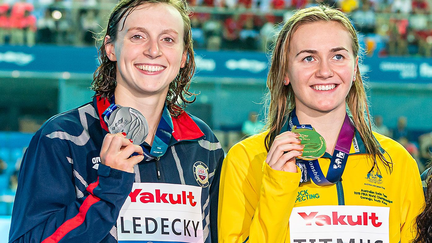Ledecky was upset by Titmus earlier at the world swim titles