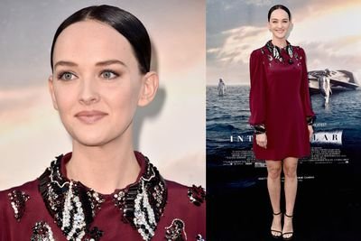 Actress Jess Weixler showed up in support of her <i>Disappearance of Eleanor Rigby</i> co-star Jessica Chastain.