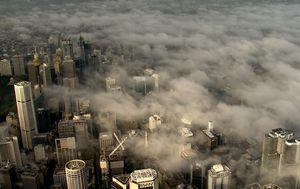 Sydney shrouded in thick fog ahead of wet weekend for southern states