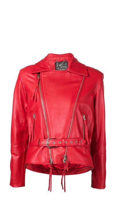 "<a href=""http://www.farfetch.com/au/shopping/women/Claire-Barrow-embroidered-back-biker-jacket-item-11185359.aspx?"" target=""_blank"">Jacket, $4256, Claire Barrow at farfetch.com</a>"