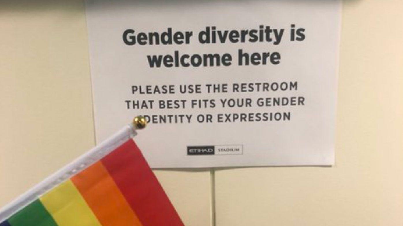 Gender fluid toilets at Etihad Stadium divides AFL fans