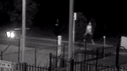 The alleged attacker is still on the loose with a similar incident captured on CCTV on April 1.