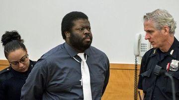 Daniel St Hubert on trial in Brooklyn, New York. (Twitter).