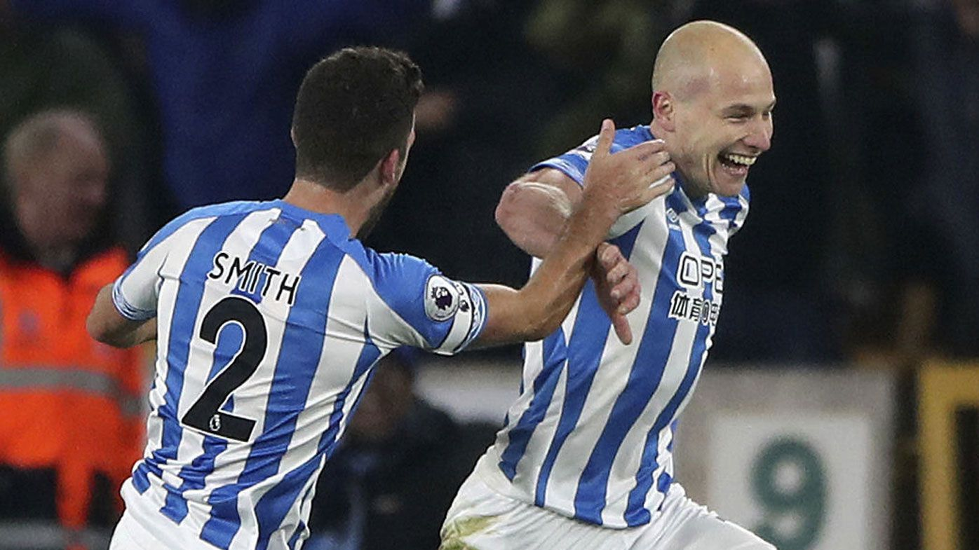 Socceroos star Aaron Mooy lifts Huddersfield from EPL basement with goal double
