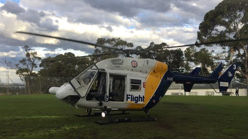 An eight-year-old boy suffered a 'rare' cardiac arrest in Sydney. (Supplied/CareFlight)