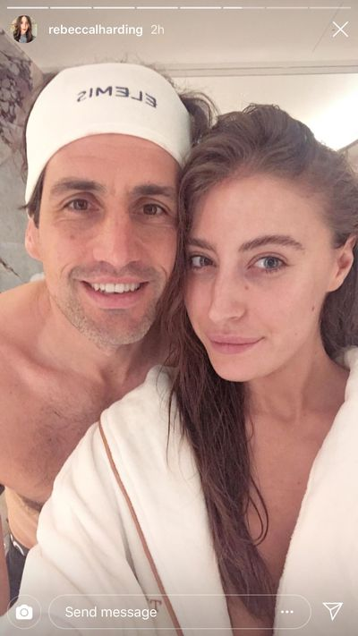 Comedian Andy Lee and girlfriend Rebecca Harding