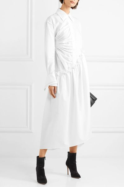 "<a href=""https://www.net-a-porter.com/au/en/product/1003675/Preen_by_Thornton_Bregazzi/petunia-asymmetric-ruffled-cotton-midi-dress"" target=""_blank"">Preen by Thornton Bregazzi Petunia Asymetric Ruffled Cotton Midi Dress, $950.42</a>"