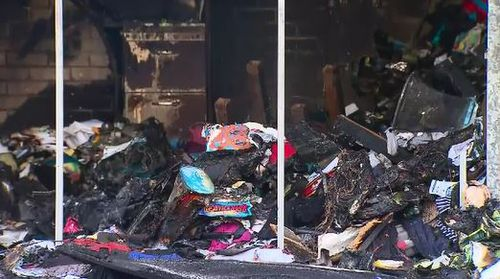 The blaze was caused by the family's computer equipment.