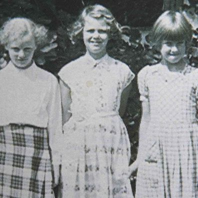Camilla, Duchess of Cornwall as a schoolgirl (centre)
