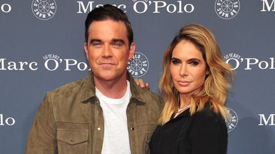 British popstar Robbie Williams and his wife Ayda Field Williams.
