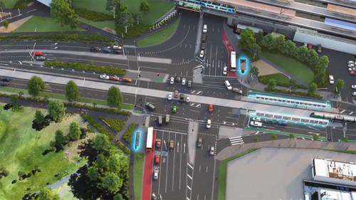 State's first continuous flow intersection targeting notorious bottleneck