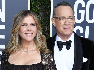 Rita Wilson and Tom Hanks, Golden Globe Awards, 2020