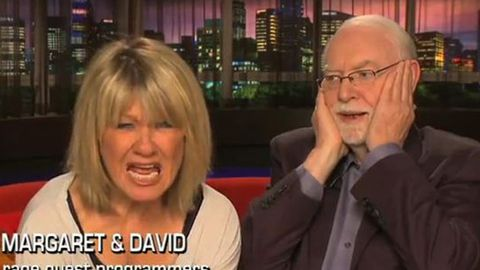 Margaret and David guest program Rage - watch them do 'the scream'