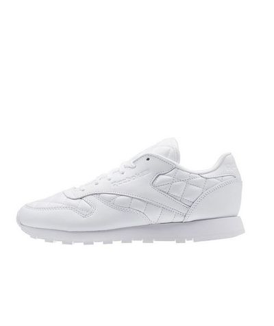 "A classic white trainer works around the clock – and overtime on weekends. The quilted leather gives these trainers a sophisticated finish, pairing perfectly with tailored shorts or a fitted skirt and shirt combo. <br> <br> Reebok classic leather quilted sneakers in white, $130. <a href=""http://www.stylerunner.com/shop/product/AR1262/classic-leather-quilted-whitewhite.html"" target=""_blank"">Stylerunner.com</a><br>"