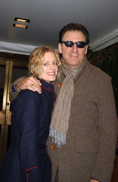 Michael Richards, wife Beth Skipp, 2005, New York City