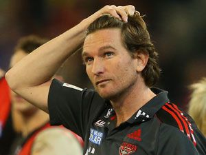Suspended Essendon coach James Hird. (Getty)