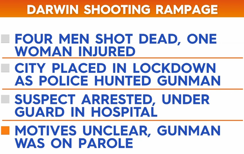 Darwin shooting - what we know