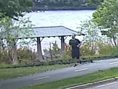 Police are appealing for help to capture the jogger.