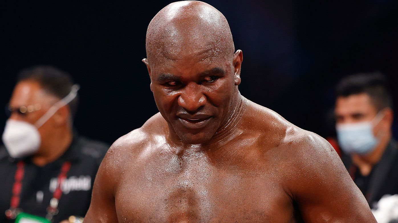'Sad' Evander Holyfield comeback leaves fans fearing for boxing legend's safety after TKO loss