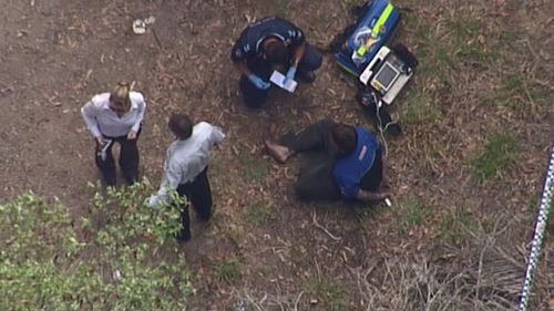 A man has been shot in Brisbane's south this morning. (9NEWS)