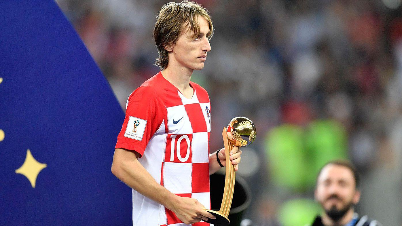 2c051a892 World Cup 2018  Croatia star Luka Modric wins Golden Ball