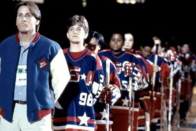"""<b>Alternative title: <i>The Mighty Ducks are the Champions</i></b><br/><br/>Well that's a mouthful! This title was apparently changed because UK audiences may not realise that """"The Mighty Ducks"""" is the name of an actual hockey team. <br/><br/>(Image: Buena Vista Pictures)"""