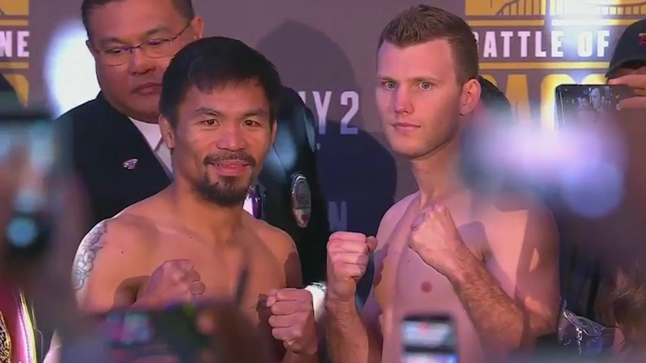 Pacquiao and Horn both make weight