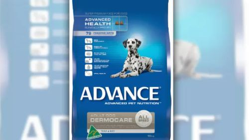 ADVANCE Dermocare dry dog food has been voluntarily recalled. (Supplied)