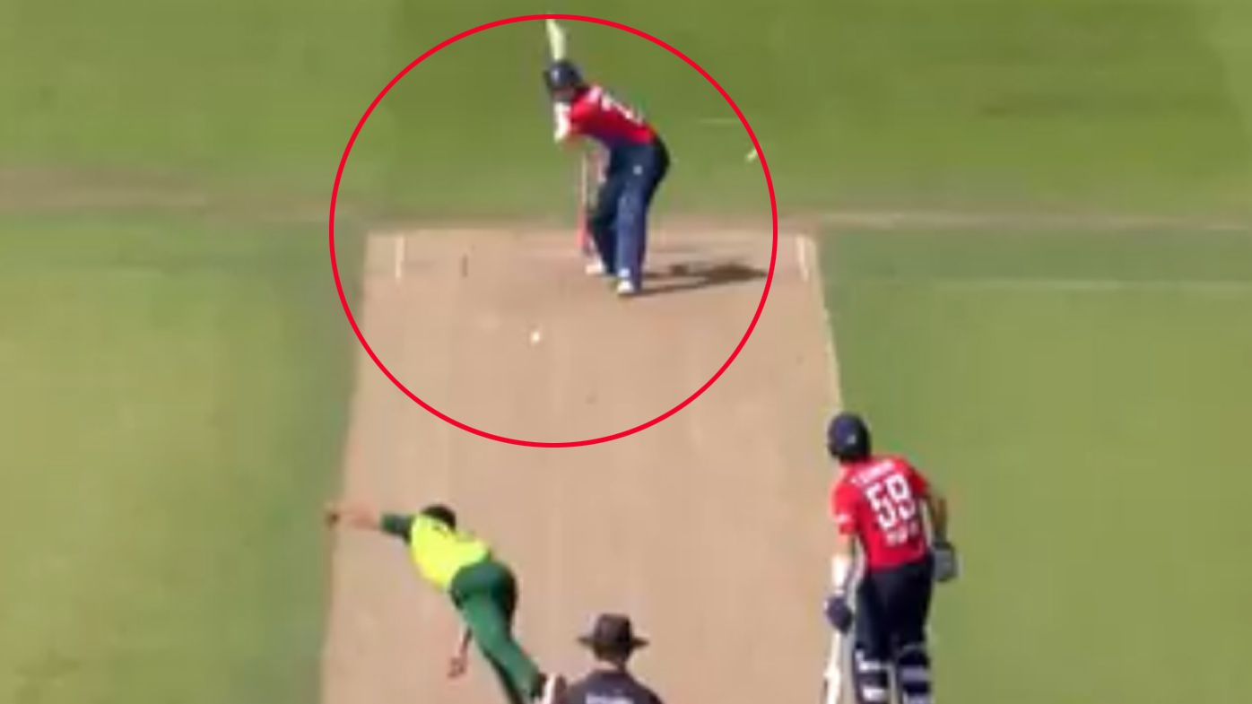 England cricketer Liam Livingstone hits massive six