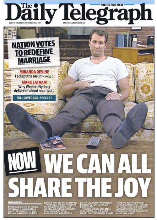 The maligned Daily Telegraph front page.