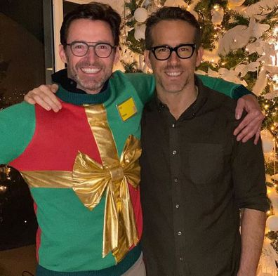 Hugh Jackman, Ryan Reynolds, feud, ugly Christmas sweater