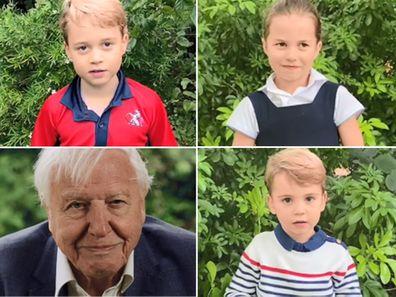 Prince George, Princess Charlotte, Prince Louis, David Attenborough
